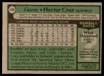 1979 Topps #436  Hector Cruz  Back Thumbnail