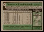 1979 Topps #141  Tom Paciorek  Back Thumbnail