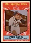 1959 Topps #551   -  Fred Haney All-Star Front Thumbnail