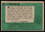 1956 Topps Davy Crockett Green Back #39   A Surprising Offer  Back Thumbnail