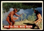 1956 Topps Davy Crockett #29   Face to Face with Death  Front Thumbnail