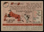 1958 Topps #434  Harvey Kuenn  Back Thumbnail