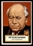 1952 Topps Look 'N See #100  William Beaverbrook  Front Thumbnail