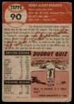 1953 Topps #90  Hank Edwards  Back Thumbnail
