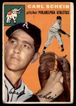 1954 Topps #118  Carl Scheib  Front Thumbnail