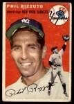 1954 Topps #17 WHT Phil Rizzuto  Front Thumbnail
