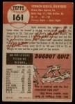 1953 Topps #161  Vern Bickford  Back Thumbnail