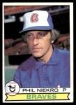 1979 Topps #595  Phil Niekro  Front Thumbnail
