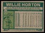 1977 Topps #660  Willie Horton  Back Thumbnail