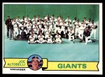 1979 Topps #356   -  Joe Altobelli Giants Team Checklist Front Thumbnail