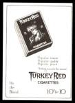 T3 Turkey Red Reprint #123  Ira Thomas  Back Thumbnail