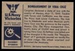 1954 Bowman U.S. Navy Victories #4   Bombardment of Vera Cruz Back Thumbnail