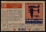 1952 Topps Wings #124   XF 88A Voodoo Back Thumbnail