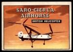 1952 Topps Wings #154   Saro-Cierva Airhorse Front Thumbnail