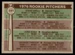 1976 Topps #591   -  Steve Grilli / Craig Mitchell / Jose Sosa / George Throop Rookie Pitchers   Back Thumbnail