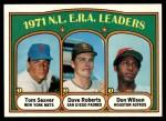 1972 Topps #91   -  Tom Seaver / Dave Roberts / Don Wilson NL ERA Leaders   Front Thumbnail
