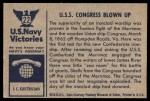 1954 Bowman U.S. Navy Victories #22   U.S.S. Congress Blown Up Back Thumbnail