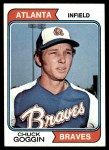 1974 Topps #457  Chuck Goggin  Front Thumbnail
