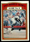 1972 Topps #228   -  Manny Sanguillen / Frank Robinson 1971 World Series - Game #6 Front Thumbnail