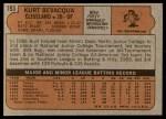 1972 Topps #193  Kurt Bevacqua  Back Thumbnail