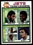 1979 Topps #226   Jets Leaders Checklist Front Thumbnail