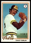 1978 Topps #86  Dave Tomlin  Front Thumbnail