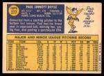 1970 Topps #277  Paul Doyle  Back Thumbnail