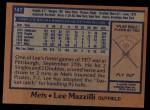 1978 Topps #147  Lee Mazzilli  Back Thumbnail
