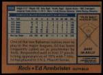 1978 Topps #556  Ed Armbrister  Back Thumbnail