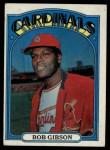 1972 Topps #130  Bob Gibson  Front Thumbnail