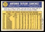 1970 Topps #324  Tony Taylor  Back Thumbnail
