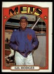 1972 Topps #465  Gil Hodges  Front Thumbnail
