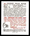 1948 Bowman REPRINT #50  Charles Black  Back Thumbnail