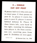 1948 Bowman REPRINT #5   Single Cut Off Post Play Back Thumbnail