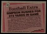 1977 Topps #453   -  O.J.Simpson Record Breaker Back Thumbnail