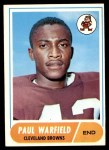 1968 Topps #49  Paul Warfield  Front Thumbnail