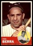 1963 Topps #340  Yogi Berra  Front Thumbnail
