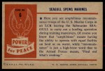 1954 Bowman Power for Peace #6   Seagull Spews Marines Back Thumbnail