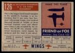 1952 Topps Wings #126   XC-99 Cargo transport Back Thumbnail