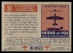 1952 Topps Wings #51   B-29 Superfortress Back Thumbnail