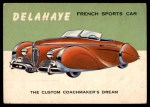 1954 Topps World on Wheels #67   Delahaye Front Thumbnail