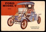 1954 Topps World on Wheels #37   Ford Roadster 1910 Front Thumbnail