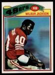 1977 Topps #276  Wilbur Jackson  Front Thumbnail