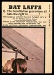 1966 Topps Batman Bat Laffs #46   The Joker Back Thumbnail