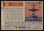1952 Topps Wings #68   IL-2 Stormovik Back Thumbnail