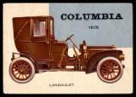 1954 Topps World on Wheels #158   Columbia Landaulet 1905 Front Thumbnail