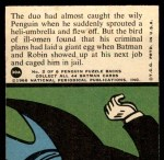 1966 Topps Batman Red Bat #30   Undone by the Umbrella Back Thumbnail