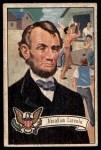 1952 Bowman U.S. Presidents #19  Abraham Lincoln    Front Thumbnail