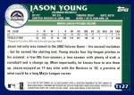 2003 Topps Traded #127 T  -  Jason Young Prospect Back Thumbnail