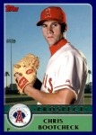 2003 Topps Traded #155 T  -  Chris Bootcheck Prospect Front Thumbnail